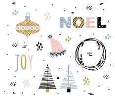 Conjunto de vetores Creative Holidays