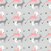Padrão dos cervos do Natal vetor