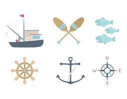 Free Outstanding Set of Fishing Vectors