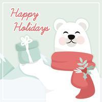 Ilustração vetorial do urso polar vetor