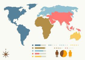 Vetores de mapas globais únicos gratuitos