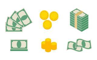 Vetores exclusivos de dinheiro de amostra única