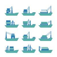 Tugboat ou vetor Trawler