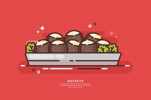 Ilustração do prato do buckeye vetor
