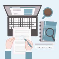 Ilustração de pesquisa de emprego do vetor