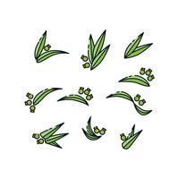 vetor de ícones de coleção de plantas grátis