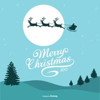 Ilustração bonita do Feliz Natal vetor