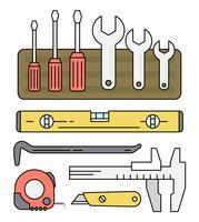 Coleção de ferramentas lineares grátis vetor