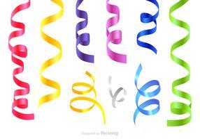 Conjunto de vetores serpentinos coloridos