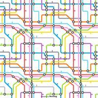 Padrão sem emenda do vetor do mapa do tubo