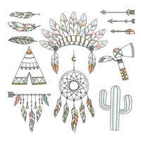 Estilo Tribal Boho Decorativo vetor