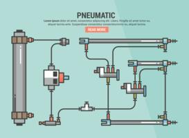Infografia pneumática vetor