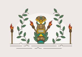Estátua do Shaman dos desenhos animados vetor