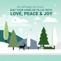 Free Flat Design Vector Christmas Greetings