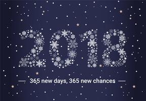 Cartão de cartão de Ano Novo de design plano gratuito