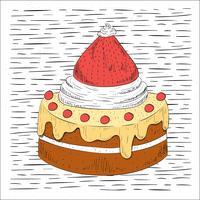 Ilustração de Bolo de Vector Desenho Desenhado Gratuita