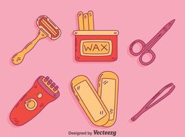 cabelo remover ferramentas vetor