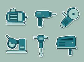 Vector de coleção de ferramentas de construção