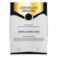 Vector de diploma de ouro