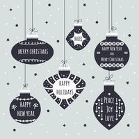 Fundo do vetor Bolas de Natal