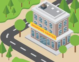 Ilustração do Shopping Center vetor