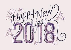 Cartão Glitter de Ano Novo vetor