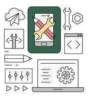 Desenvolvimento gratuito de software móvel vetor