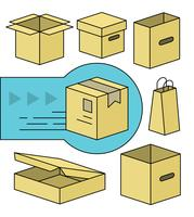 Elementos de vetor de caixa grátis