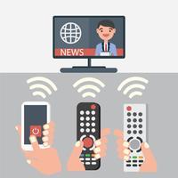 vetor remoto de TV