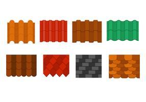 Coleção gratuita de padrões de telha de telhado vetor