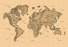 Mapa global de vetores grátis vintage