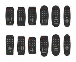 Remote Control Ou Tv Remote Icons vetor