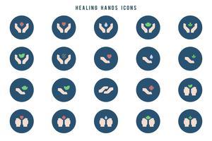 Vetores de mãos curantes livres