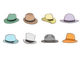 Coleção livre do vetor do chapéu do Panamá