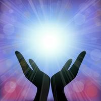 Espírito de cura com vetor de luz