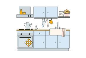 vetor de cozinha grátis