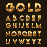 vetor de fontes 3d douradas