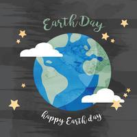 Ilustração do Dia da Terra da aquarela vetor