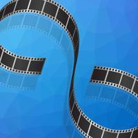 Vetor de fundo negativo de filme