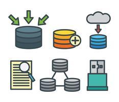 Ícones do vetor da base de dados