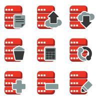 Vector de ícone de banco de dados