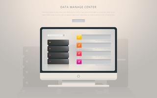 Data Base Manage Center vetor