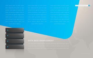 Pré-visualização do modelo da página base de dados vetor
