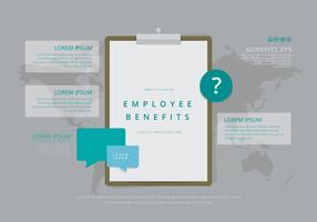 Modelos Infográficos de Benefícios a Empregados vetor