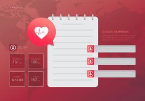 Monitor de ritmo cardíaco, ilustração médica do cardio. vetor
