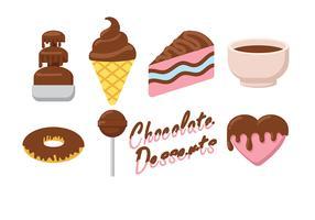 Vetor de ícone de comida de chocolate