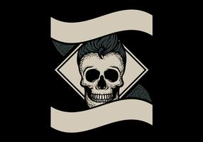 Emblema Grey Greaser vetor
