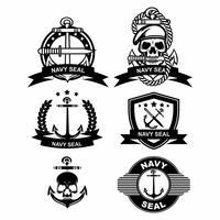 Vetores do emblema do selo da marinha