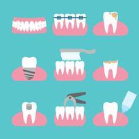 Vector de ícones dentários