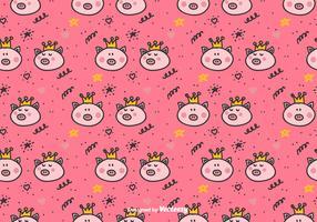 Padrão do vetor Princess Pigs
